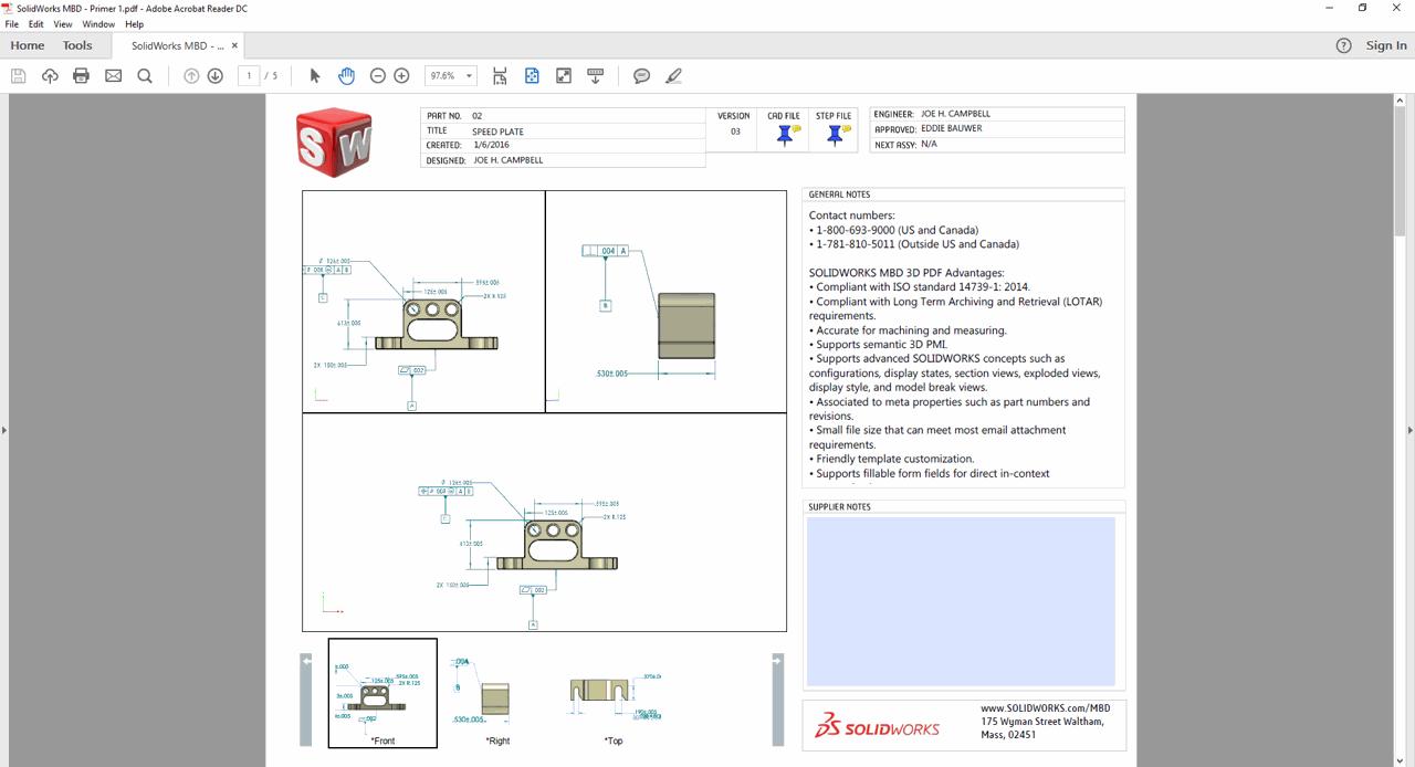 SolidWorks MBD | Solfins 3D kompanija